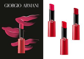 GIORGIO ARMANI - 全新【奢華訂製緞光水唇膏】如羽幻紗般極致輕盈 一抹潤澤持久顯色