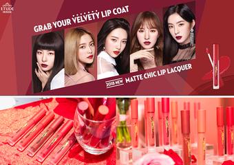 ETUDE HOUSE - 回歸首波強打「唇萃印記~絲絨柔霧唇釉」代言人Red Velvet完美詮釋,打造韓劇美唇