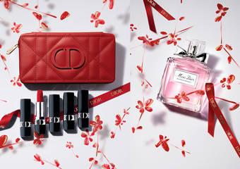 Dior 迪奧 - 《迪奧經典藤格紋唇膏禮盒》訂製新年紅唇妝首推極限量《花漾迪奧淡香水-2021花舞新春限定版》「迪奧花舞新春限量包裝服務」獻上新年祝福