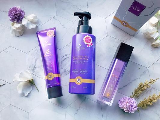 PRL'É AIR 儷蕾兒 - 高效能養髮又能療癒潔淨身心靈,沙龍級別 紫瓶奇肌 「舒敏+調理 髮浴露」一步輕鬆養成閃亮肌膚!