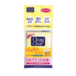 Clean&Clear 可伶可俐 吸油面紙系列-防曬魔粉吸油紙 SPF19.PA+ Powder Oil Control Film
