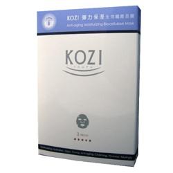 KOZI 臉部保養-彈力保濕生物纖維面膜