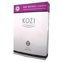 KOZI 臉部保養-極緻美白生物纖維面膜