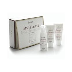 Fresh 臉部保養系列-蘋果籽煥膚三效組 Appleseed Resurfacing Kit