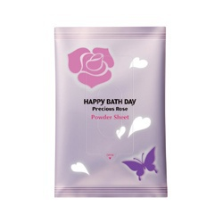 薔薇花蜜柔舒濕巾 Happy Bath Day Precious Rose Powder Sheet