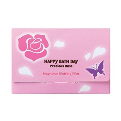 HAPPY BATHDAY precious rose 快樂沐浴天 其他-薔薇香氛吸油面紙 Happy Bath Day Precious Rose Fragrance Blotting Film
