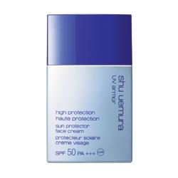 shu uemura 植村秀 防曬‧隔離-極限UV防護乳SPF50‧PA+++ UV armor Sun Protector Face Cream SPF50 PA+++