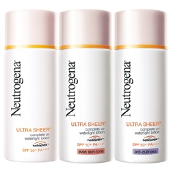 Neutrogena 露得清 防曬‧隔離-輕透無感高效UV防曬露 SPF50+ PA+++ Ultra Sheer Complete UV WaterLight Lotion SPF50/PA+++
