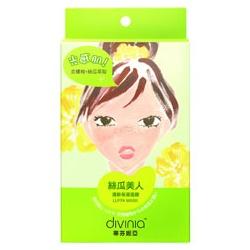 divinia 蒂芬妮亞 絲瓜美人-清新保濕面膜