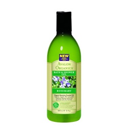 AVALON ORGANICS 經典綠瓶系列-迷迭香沐浴露 Organic Rosemary Bath & Shower Gels