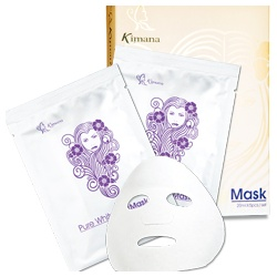Kimana 奇瑪娜 PURE WHITE 美白方程式橙白保養系列-純白Q感呼吸面膜 Pure Whitening Mask