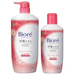 Biore 蜜妮 淨嫩沐浴乳系列-淨嫩沐浴乳活力清爽型(富士蘋果香) Biore Body Foam - APPLE