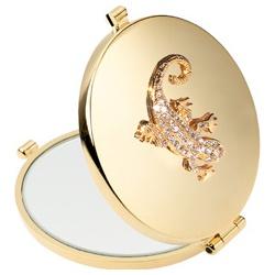 Giorgio Janeke 24K金與鉻銀系列-晶璀燦金蜥蜴隨身鏡