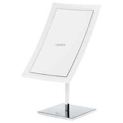 純淨透白方型桌面鏡