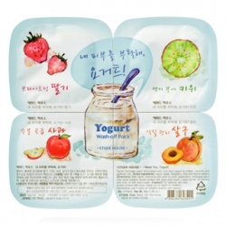 ETUDE HOUSE 保養面膜-果然明亮優格凍膜拼盤(水洗式) Yogurt Wash-off Pack