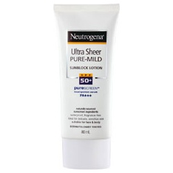 Neutrogena 露得清 防曬‧隔離-溫和全護輕透防曬乳 SPF50+ PA+++ Ultra Sheer Pure Mind  Sun Block SPF50+PA+++
