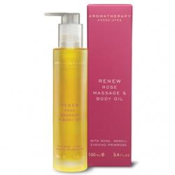 AROMATHERAPY ASSOCIATES 身體保養-玫瑰煥新潤體按摩油 Renew Nourishing Rose Massage & Body Oil