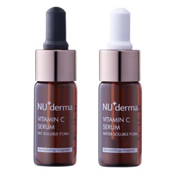 NU derma 新德曼微整概念保養 保養系列-晶澈美白維他命C純液/雙劑 Vitamin C Serum - Oil Soluble Form 卅 Water Soluble Form