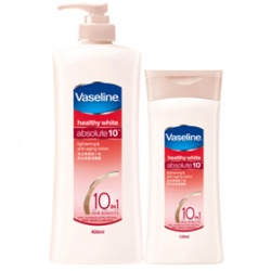 Vaseline 凡士林 身體保養-極致十效亮白修護潤膚露 Healthy white absolute 10 lightening & anti-aging lotion