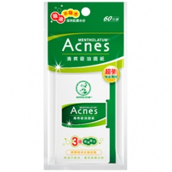 臉部保養用具產品-Acnes清爽吸油面紙
