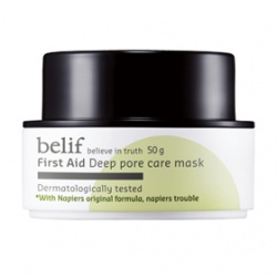 belif 臉部保養-面膜系列-綠礦泥控油毛孔緊致面膜 First Aid  deep pore care mask