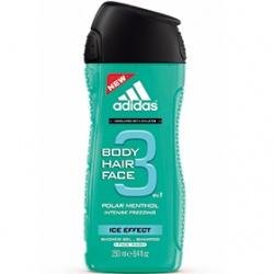 adidas 愛迪達 男仕沐浴清潔-男用三效凍感潔顏洗髮沐浴露 Ice Effect 3 in 1 Shower Gel