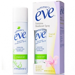 summer`s eve 舒摩兒 香氛保養系列-清新粉霧(香氛型) Feminine Deodorant Spray Tropical Rain