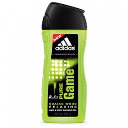 adidas 愛迪達 男仕沐浴清潔-男用雙效洗髮沐浴露(極限挑戰) Pure Game 2 in 1 Shower Gel