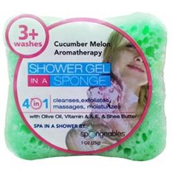 Spongeables 思邦綺香氛泡泡 沐浴清潔-甜蜜香瓜 Spongeables Body Bar-Cucumber Melon