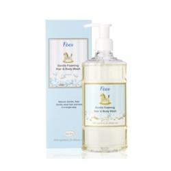 Fees 法緻 寶寶身體保養-嬰兒柔護洗髮沐浴精(棉花) Gentle Foaming Hair & Body Wash-Cotton