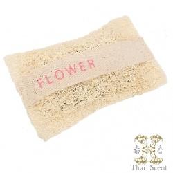 Soap-n-Scent 泰香 造型草本手工皂-花香絲瓜烙草本手工皂 Thai Scent Flower SOAP-e loofah (white hang bag)