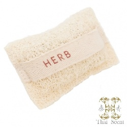 香草絲瓜烙草本手工皂 Thai Scent Herb SOAP-e loofah (white hang bag)