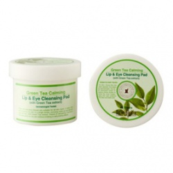 It`s Skin 伊思 眼唇卸妝-綠茶舒緩潔顏巾&綠茶舒緩眼唇卸妝巾 Green Tea Calming Lip & Eye Cleansing Pad