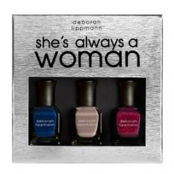 D eborah lippm ann Luxurious Nail Color奢華精品指甲油系列-天生女人組               SHE'S ALWAYS A WOMAN
