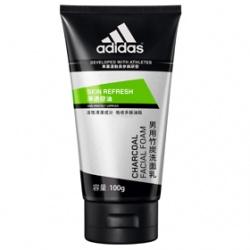 adidas 愛迪達 男仕臉部保養-淨透控油竹炭洗面乳