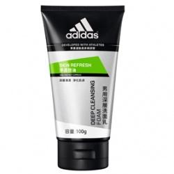 adidas 愛迪達 男仕臉部保養-淨透控油深層洗面乳