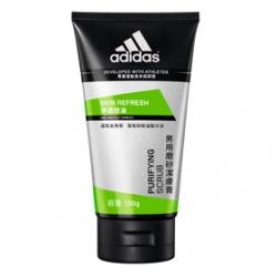 adidas 愛迪達 男仕臉部保養-淨透控油磨砂潔膚膏