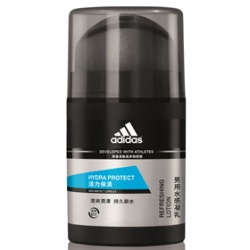 adidas 愛迪達 男仕臉部保養-活力保濕水感凝乳