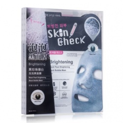 Skin Check 保養面膜-黑珍珠煥白泡泡黑面膜 Black Pearl Brightening Black Bubble Mask