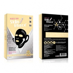 Skin Check 保養面膜-維他命C玻尿酸亮膚黑拉提面膜 Vitamin C & Hyaluronan Brightening Black Lifting Mask