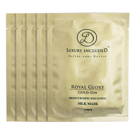 Luxury includeD 琳蒂 黃金離子Gold-ion系列-黃金離子嫩白保濕蠶絲面膜  Moisturizing Whitening Silk Mask