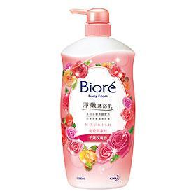 Biore 蜜妮 淨嫩沐浴乳系列-淨嫩沐浴乳寵愛潤澤型(千葉玫瑰香)
