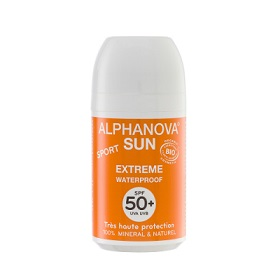 Alphanova 艾蘿若華 嬰幼保養系列-天然滾珠防曬乳SPF50+(抗汗防水) sun bio roll on SPF50+