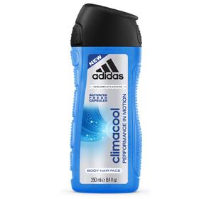 adidas 愛迪達 男仕沐浴清潔-男用三效動感香氛潔顏洗髮沐浴露