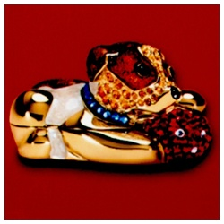 Estee Lauder 雅詩蘭黛 固體香精系列-歡沁貼心狗固體香精 Pleasures Jack Russel Dog