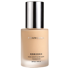 粉底液產品-輕透緞光粉底液 SPF50★★★ Nude Sheer Glow Liquid Foundation SPF50 ★★★