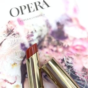 光澤水潤濃淡妝都百搭的OPERA-渲漾水色唇膏#06枚紅
